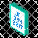 Pi Numbers Isometric Icon