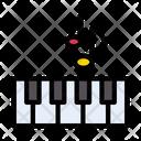Piano Keyboard Tiles Icon