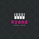Piano Tag Piano Label Piano Logo Icon