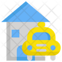 Car House Taxi Icon