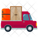 Pick Up Truck Moving Icon
