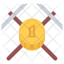 Pickaxe Coin Money Icon