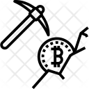Pickaxe Bitcoin Blockchain Icon