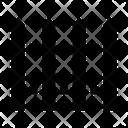 Garden Picket Picket Fence Icon