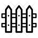 Picket Fence Backyard Barrier Icon