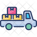 Pickup Cargo Delivery Transport Truck Icon