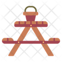 Picnic Table Bench Icon