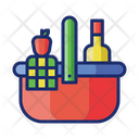 Picnic Food Basket Foods Icon