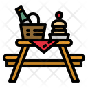 Picnic Table Basket Icon