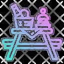 Picnic Table Basket Icon