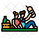 Picnic Family Basket Icon