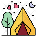 Picnic Camping Tent Icon