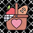 Picnic Basket Camping Icon