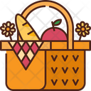 Picnic Food Basket Icon