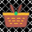 Picnic Basket Wicker Basket Icon