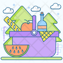 Food Basket Food Bucket Picnic Basket Icon