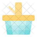 Picnic Basket Summer Beach Icon