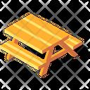 Picnic Table Bench Icon