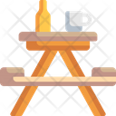 Picnic Table Picnic Camping Table Icon