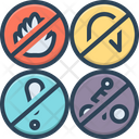 Pictogram Flame Ban Icon