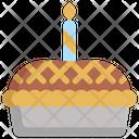 Pie Party Birthday Icon