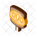 Knife Cutting Baked Icon