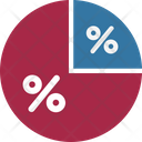 Graph With Percentage Pie Graph With Percentage Graph Analysis Icon