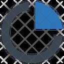 Pie Chart Analytics Competitive Icon