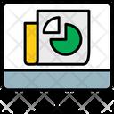 Online Learning Pie Chrat Statatics Icon