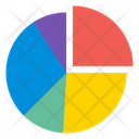 Pie Chart Report Analysis Icon