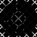 Pie Chart Diagram Blueprint Icon