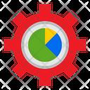 Gear Pie Chart Graph Icon