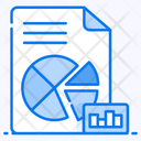 Pie Chart Sales Report Project Analysis Icon