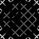 Pie Chart F Icon