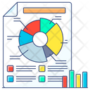 Business Report Pie Chart Graphical Representation Icon