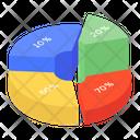 Pie Chart Statistical Graphic Data Analysis Icon