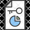Key Keyword Statistic Icon