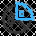 Pie Chart Ratio Equity Icon