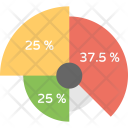 Doughnut Chart Scattered Icon