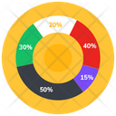 Pie Chart Diagram Percentage Chart Graphical Presentation Icon