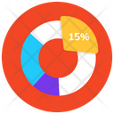 Pie Infographic Percentage Chart Graphical Presentation Icon