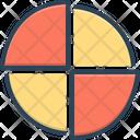Piechart Diagram Blueprint Icon