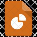 Piegraph File Sheet Icon