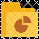 Piegraph Folder Data Icon