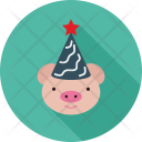 Pig Face Animal Icon