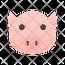 Pig Food Animal Icon