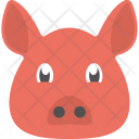 Pig Face Pigling Icon
