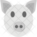Pig Face Cattles Icon