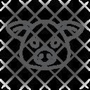 Pig Pork Face Icon