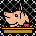 Pig China Head Icon